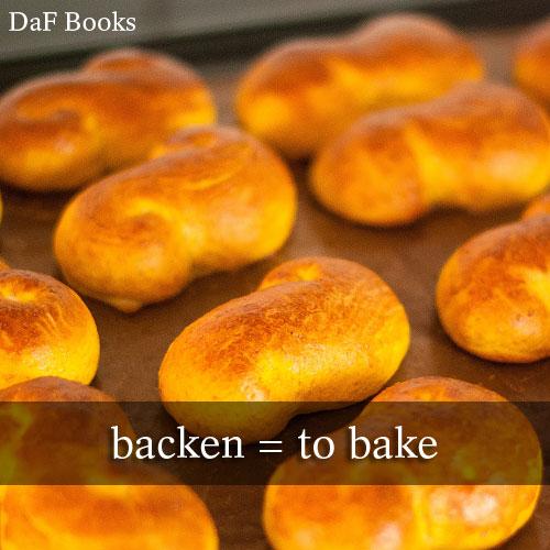 backen - to bake: DaF Books vocabulary list