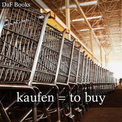 kaufen - to buy: DaF Books vocabulary list