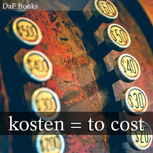 kosten - to taste: DaF Books vocabulary list