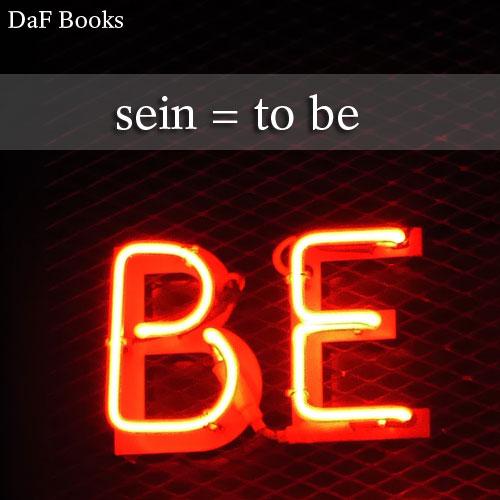 sein - to be: DaF Books vocabulary list