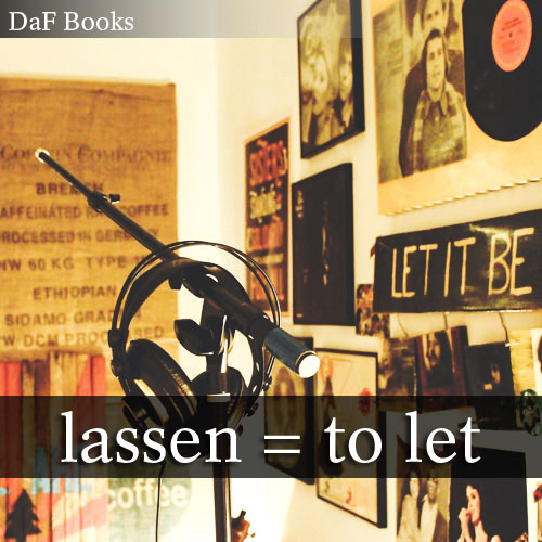lassen - to let: DaF Books vocabulary list